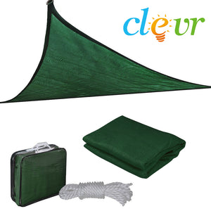 [product_tag] , Clevr 12'x12'x12' Triangle Green Outdoor Sun Shade Sail Canopy - Crosslinks