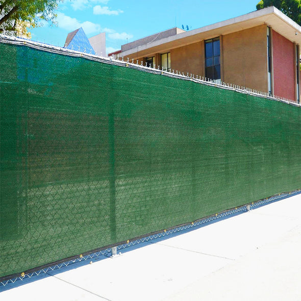 Home Aesthetics 6' x 50' Fence Windscreen Privacy Screen Cover, Green Mesh (CL_HOM200701) - Alt Image 4