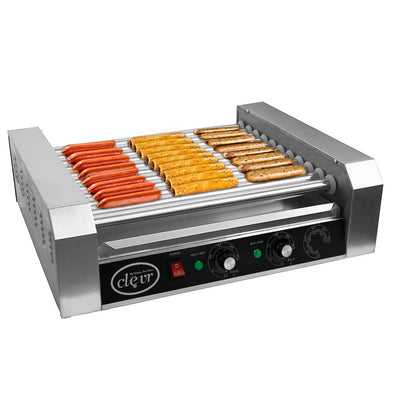 PartyHut Commercial 30 Hot Dog 11 Roller Grill Cooker Warmer Hotdog Machine (CL_CRS201710) - Main Image