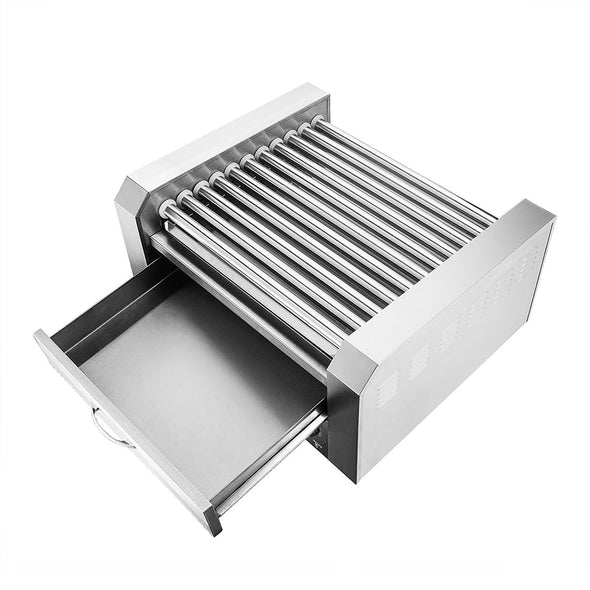 Clevr Commercial 30 Hot Dog 11 Roller Grill Cooker Warmer Hotdog Machine (CL_CRS201716) - Alt Image 2