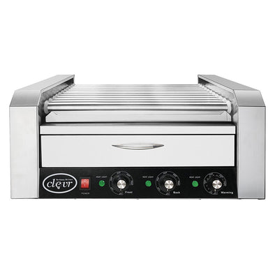 Clevr Commercial 30 Hot Dog 11 Roller Grill Cooker Warmer Hotdog Machine (CL_CRS201716) - Main Image