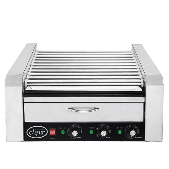 Clevr Commercial 30 Hot Dog 11 Roller Grill Cooker Warmer Hotdog Machine (CL_CRS201716) - Alt Image 1