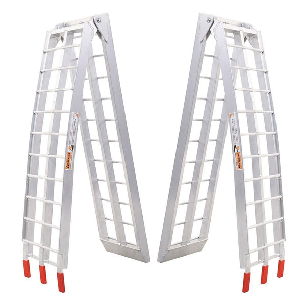 Clevr 7.5 HeavyDuty ATV UTV Aluminum Ramps Arched X2 Motorcyle Lawnmower 1500lbs (CL_CRS202104) - Alt Image 8