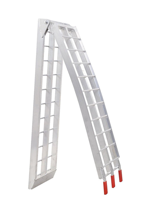 Clevr 7.5 HeavyDuty ATV UTV Aluminum Ramps Arched X2 Motorcyle Lawnmower 1500lbs (CL_CRS202104) - Alt Image 7
