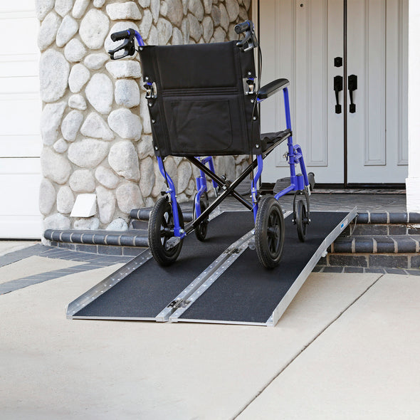 "AllCure 6' (72"" x 31"") Non-Skid Aluminum Foldable Wheelchair Loading Traction Ramp (CL_ALC202105) - Alt Image 8"