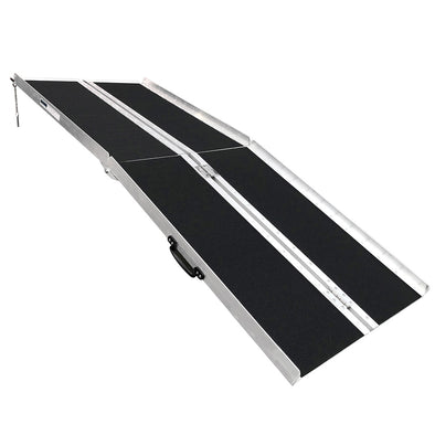 "AllCure 6' (72"" x 31"") Non-Skid Aluminum Foldable Wheelchair Loading Traction Ramp (CL_ALC202105) - Main Image"