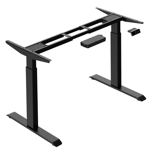 "AdvanceUp Black 47"" Dual Motor Electric Stand Up Office Desk with USB Port, Frame only (CL_CRS202301) - Alt Image 6"