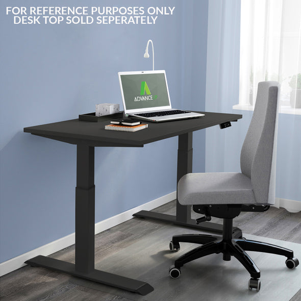 "AdvanceUp Black 47"" Dual Motor Electric Stand Up Office Desk with USB Port, Frame only (CL_CRS202301) - Alt Image 3"