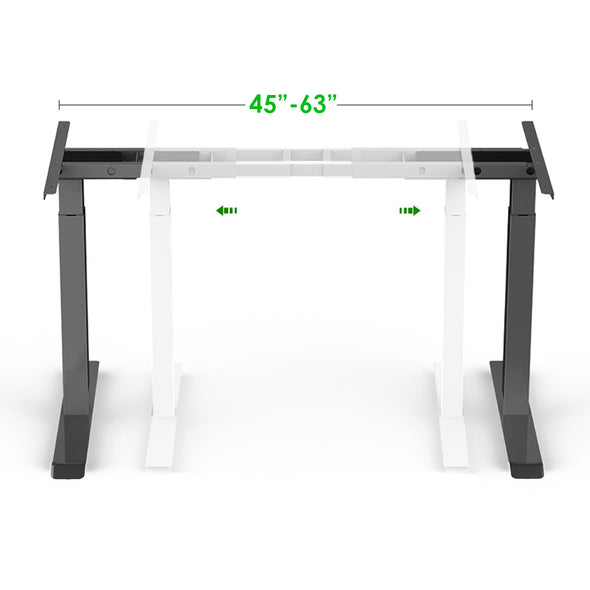 "AdvanceUp Black 47"" Dual Motor Electric Stand Up Office Desk with USB Port, Frame only (CL_CRS202301) - Alt Image 4"