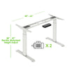 "AdvanceUp Dual Motor Electric Standing Office Desk Adjustable Stand Up Workstation, Support 220 lbs, 47"" Height and Memory Presets, White, Frame & Top Set (CL_CRS202314+202322) - Alt Image 3"