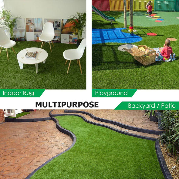 Clevr Artificial Synthetic Turf Grass Lawn for Outdoor Landscape, 6.5' X 10' (CL_CRS202401) - Alt Image 4