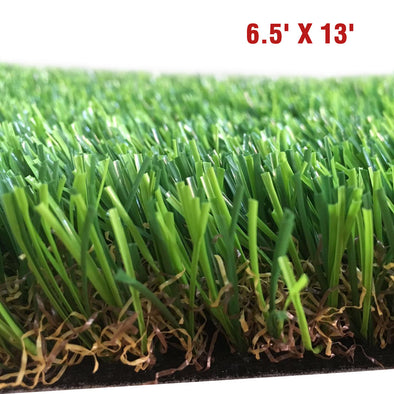 "Clevr Artificial Synthetic Turf Grass Lawn for Outdoor Landscape, 6.5' X 13"" (CL_CRS202402) - Main Image"