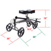 Clevr Medical Foldable Steerable Knee Walker Scooter with Basket, Silver (CL_CRS401101) - Alt Image 4