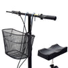 Clevr Medical Foldable Steerable Knee Walker Scooter with Basket, Silver (CL_CRS401101) - Alt Image 5