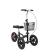 Clevr All Terrain Foldable Medical Steerable Knee Walker Scooter Roller Crutch Alternative, Black (CL_CRS401132) - Main Image