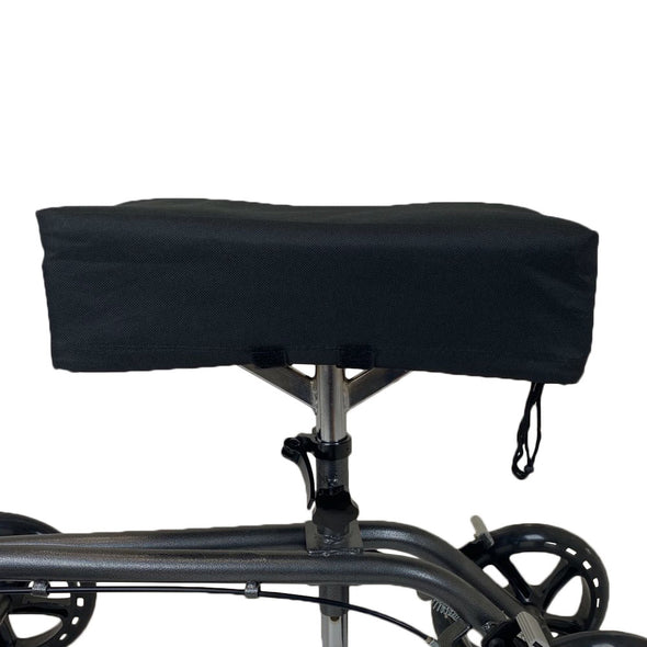 AllCure Knee Walker Memory Foam Pad Seat Cover, Black (CL_CRS401141) - Alt Image 1