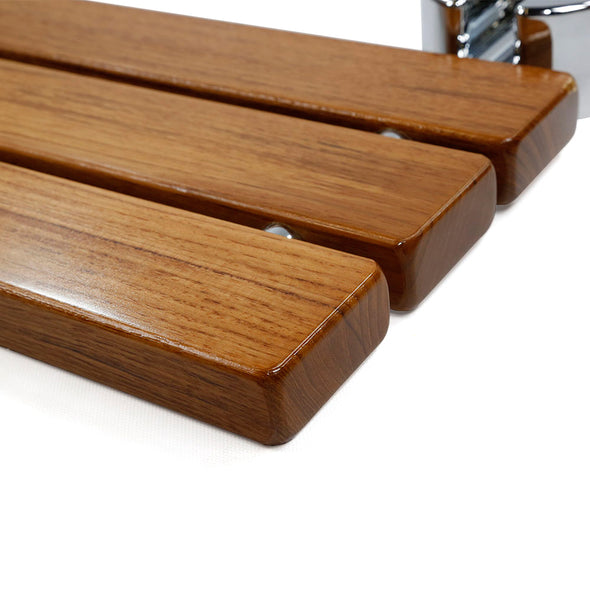 "Clevr 20"" Teak Modern Folding Shower Seat Bench (CL_CRS501102) - Alt Image 5"
