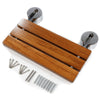 "Clevr 20"" Teak Modern Folding Shower Seat Bench (CL_CRS501102) - Alt Image 3"
