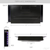 "[product_tag] , 39"" Adjustable Glass Electric Wall Mount Fireplace Heater Stone Colors with Backlight, Black - Crosslinks"