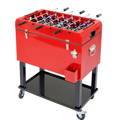 [product_tag] , Clevr 68 Quart Rolling Foosball Cooler Ice Chest Patio Outdoor Party Portable - Crosslinks