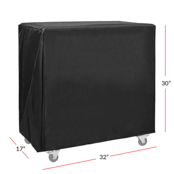 Clevr Cooler Cart Cover, Fits Most 80 Quart Rolling Ice Chest Black Water Resistant (CL_CRS502908) - Alt Image 5