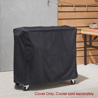 Clevr Cooler Cart Cover, Fits Most 80 Quart Rolling Ice Chest Black Water Resistant (CL_CRS502908) - Main Image