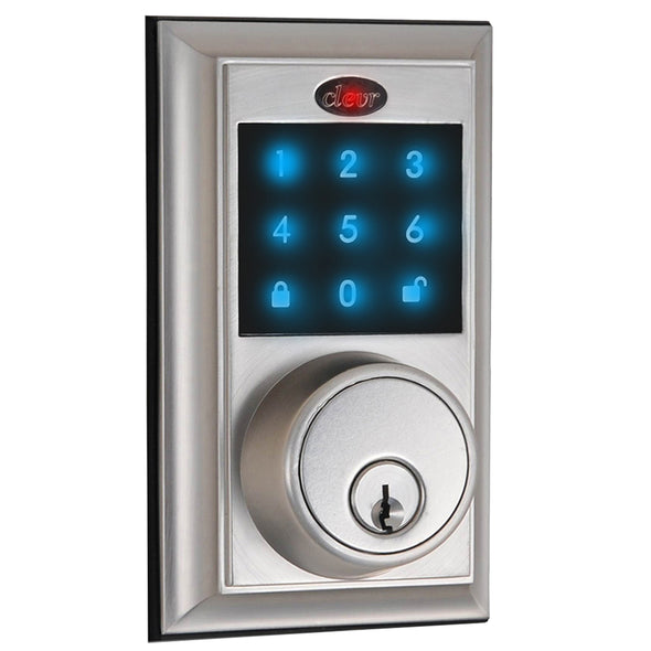 Clevr Electronic Keyless Touchscreen Deadbolt Door Lock, Satin Nickel (CL_CRS503011) - Main Image