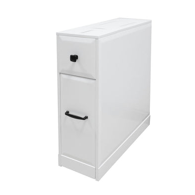 [product_tag] , Free-Standing Toilet Paper Holder Bathroom Cabinet SlideOut Drawer Storage White - Crosslinks