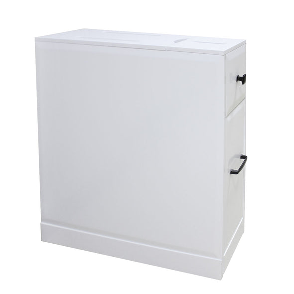 Clevr Free-Standing Toilet Paper Holder Bathroom Cabinet SlideOut Drawer Storage White (CL_CRS503309) - Alt Image 9