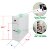 Clevr Free-Standing Toilet Paper Holder Bathroom Cabinet SlideOut Drawer Storage White (CL_CRS503309) - Alt Image 1