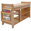 "Home Aesthetics 39"" 2-Tier Bamboo Shoe Rack Bench Storage with Drawer Padded Cushion (CL_HOM503313) - Alt Image 3"