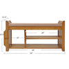 "Home Aesthetics 39"" 2-Tier Bamboo Shoe Rack Bench Storage with Drawer Padded Cushion (CL_HOM503313) - Alt Image 6"