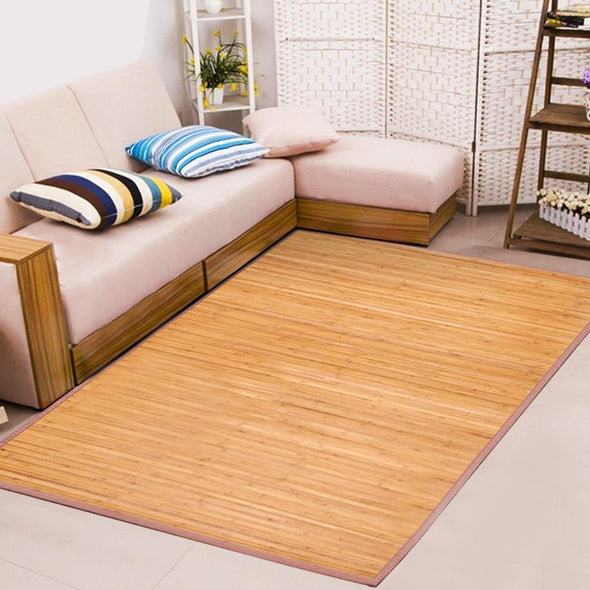 Home Aesthetics 6'X9' X-Large Natural Bamboo Floor Mat Area Rug Indoor Carpet Non Skid Backing (CL_HOM503411) - Main Image