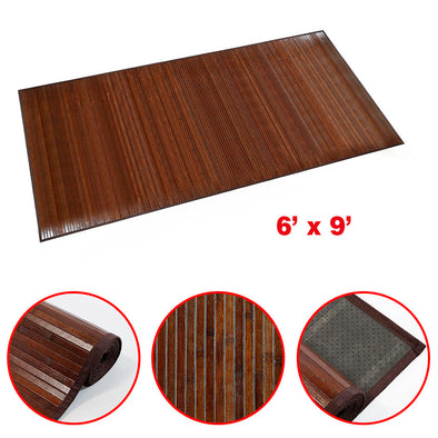 Home Aesthetics Venice Bamboo 6' X 9' Floor Mat, Area Rug Indoor Carpet Walnut Color Finish (CL_HOM503412) - Main Image