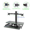 AdvanceUp Electric Automatic Standing Desk Converter Riser with Dual Monitor Mount, Black (CL_ADV503605) - Alt Image 3