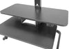 AdvanceUp Electric Automatic Standing Desk Converter Riser with Dual Monitor Mount, Black (CL_ADV503605) - Alt Image 6