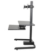 AdvanceUp Electric Automatic Standing Desk Converter Riser with Dual Monitor Mount, Black (CL_ADV503605) - Alt Image 4