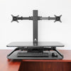 AdvanceUp Electric Automatic Standing Desk Converter Riser with Dual Monitor Mount, Black (CL_ADV503605) - Alt Image 7