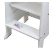 Clevr Height Adjustable Kids Kitchen Step Stool with Magnetic Activity Board (White) (CL_CRS504103) - Alt Image 5