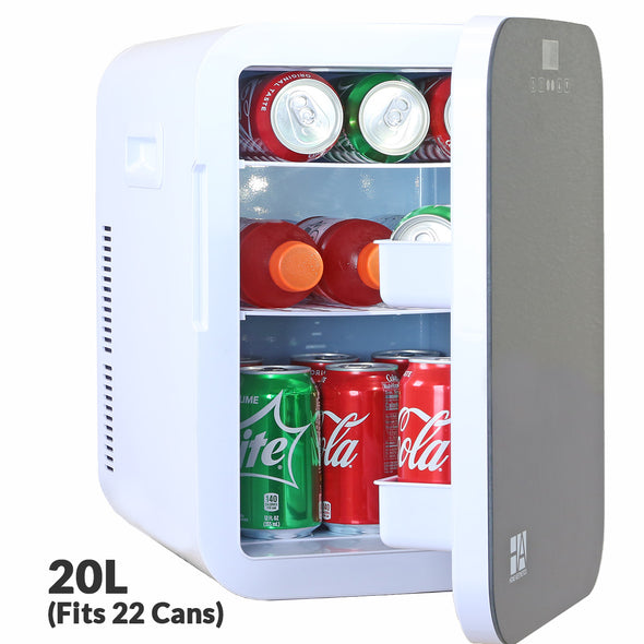 Home Aesthetics 20-Liter 22-CanMini Fridge Compact Portable Cooler Warmer with Temperature Control, Extra Large Size (CL_HOM504302) - Alt Image 1