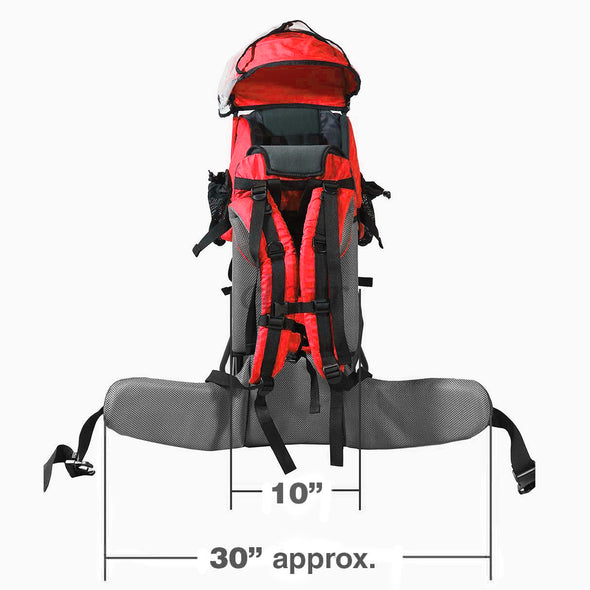ClevrPlus Hiking Child Carrier Backpack Cross Country, Red (CL_CRS600201) - Alt Image 7