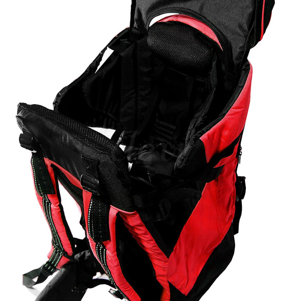 ClevrPlus Deluxe Lightweight Baby Backpack Child Carrier, Red (CL_CRS600203) - Alt Image 2