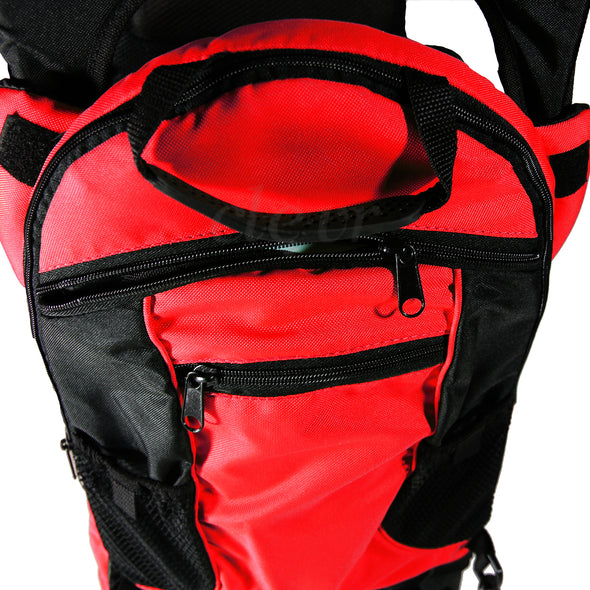 ClevrPlus Deluxe Lightweight Baby Backpack Child Carrier, Red (CL_CRS600203) - Alt Image 6