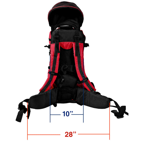 ClevrPlus Deluxe Lightweight Baby Backpack Child Carrier, Red (CL_CRS600203) - Alt Image 7