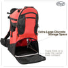 ClevrPlus Deluxe Lightweight Baby Backpack Child Carrier, Red (CL_CRS600203) - Alt Image 5