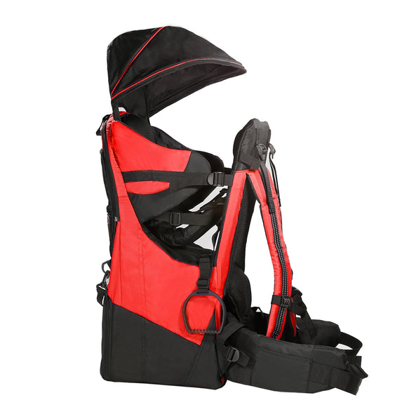 ClevrPlus Deluxe Lightweight Baby Backpack Child Carrier, Red (CL_CRS600203) - Alt Image 1