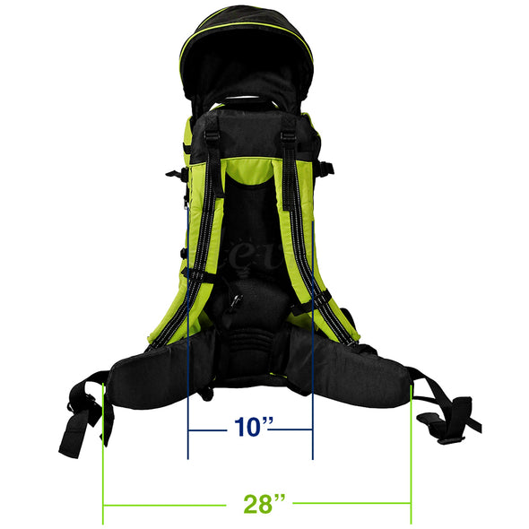 ClevrPlus Deluxe Lightweight Baby Backpack Child Carrier, Green (CL_CRS600204) - Alt Image 6