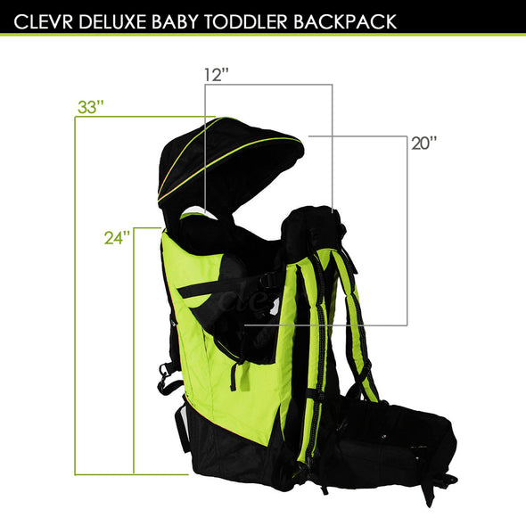 ClevrPlus Deluxe Lightweight Baby Backpack Child Carrier, Green (CL_CRS600204) - Alt Image 7