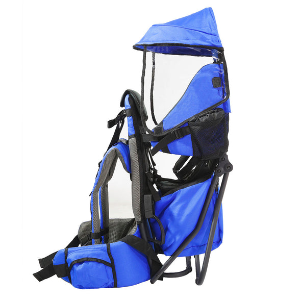 ClevrPlus Hiking Child Carrier Backpack Cross Country, Blue (CL_CRS600211) - Alt Image 2