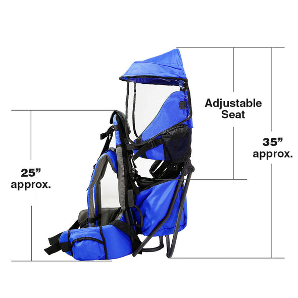 ClevrPlus Hiking Child Carrier Backpack Cross Country, Blue (CL_CRS600211) - Alt Image 5